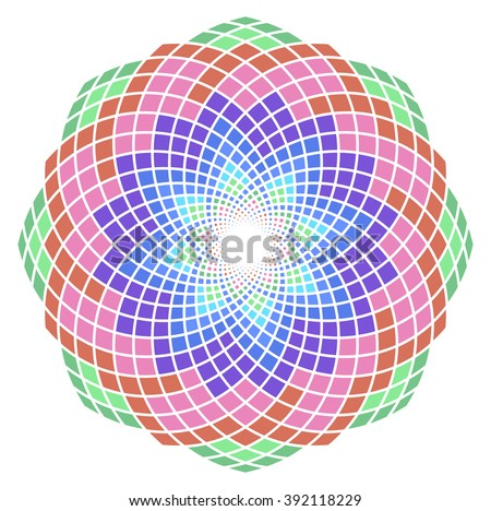 Sacred Geometry. Lotus of Heart by Sarjana Sky.  EPS-10 - stock vector