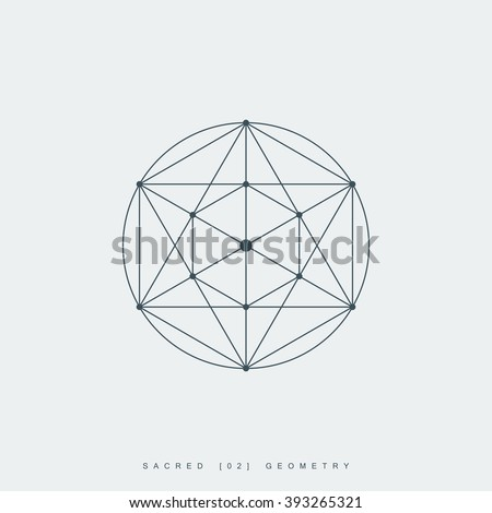 sacred geometry. pentagram sign or symbol. esoteric or spiritual symbol. isolated on white background. vector illustration - stock vector