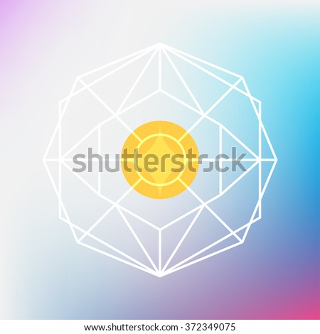 sacred geometry sign, vector illustration - stock vector