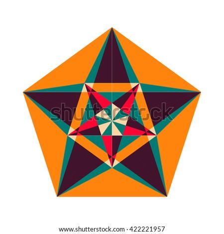Sacred Geometry Symbol Vector Arabic Pattern Stock Vector 422221957