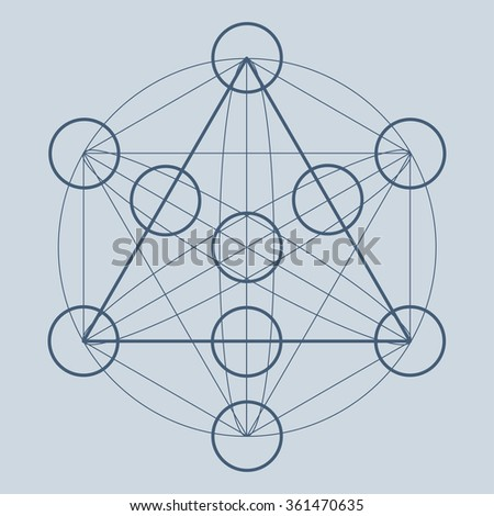 Sacred geometry symbol. Sacred element. Sacred space. Sacred circle. Alchemy, science, religion, philosophy, astrology and spirituality themes. - stock vector