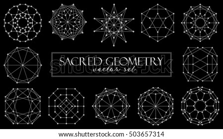 sacred geometry symbols vector set on stock vector royalty free