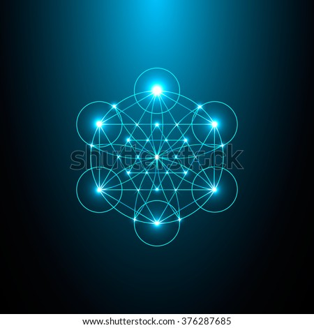 Sacred Geometry. Vector Illustration - stock vector
