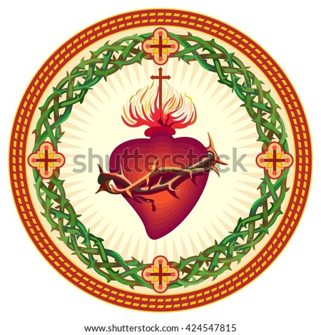 Sacred Heart of Jesus - stock vector