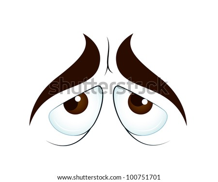 Sad Cartoon Eyes - stock vector
