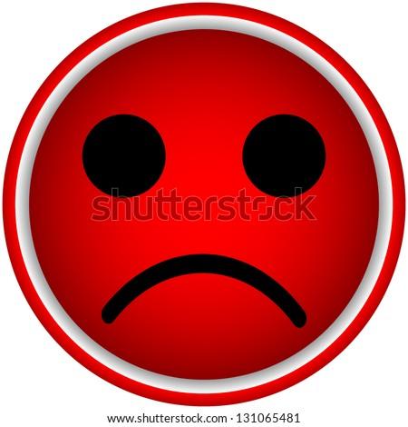 Sad Smiley Vector - stock vector