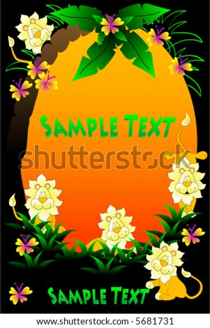 Safari Background vector. - stock vector