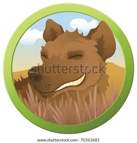 Safari Hyena - vector - stock vector