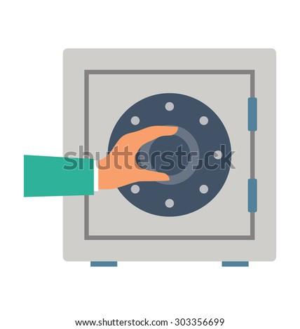 Safe Box Vector Illustration  - stock vector