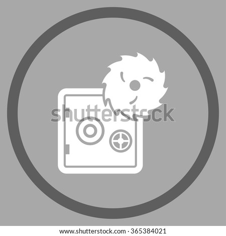 Safe Breaking vector icon. Style is bicolor flat circled symbol, dark gray and white colors, rounded angles, silver background. - stock vector