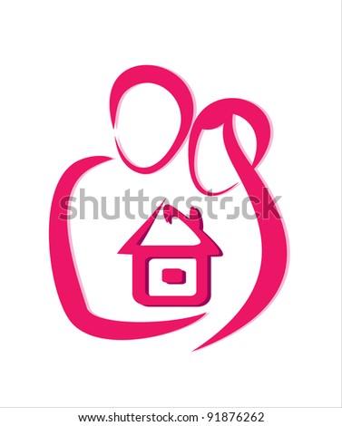 Safe home concept icon - stock vector