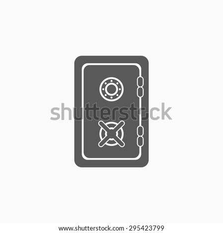 safe icon - stock vector