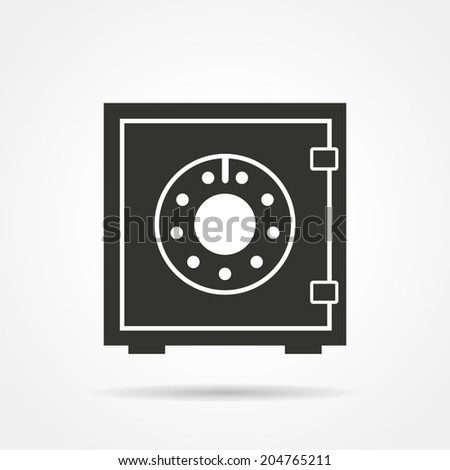 Safe icon concept with shadow. Vector EPS10 illustration - stock vector