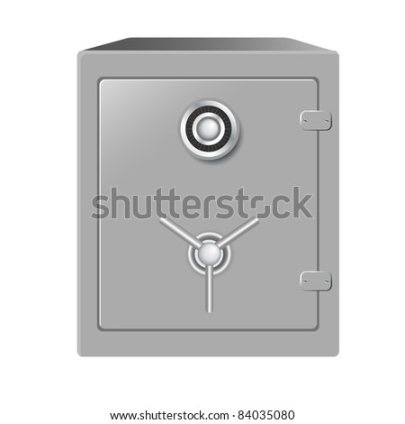 Safe, Isolated On White Background, Vector Illustration - stock vector
