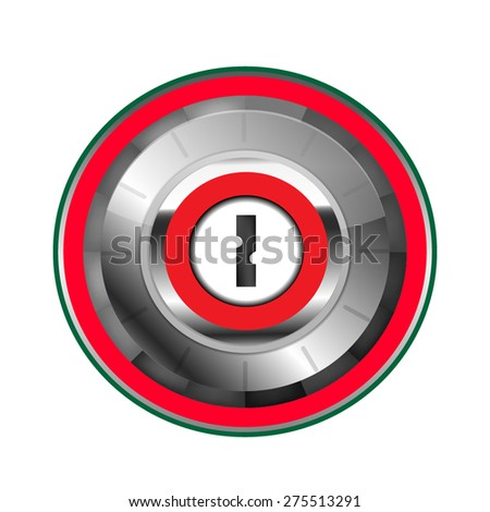 Safe lock: Vector - stock vector