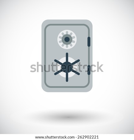 Safe. Single flat icon on white background. Vector illustration. - stock vector