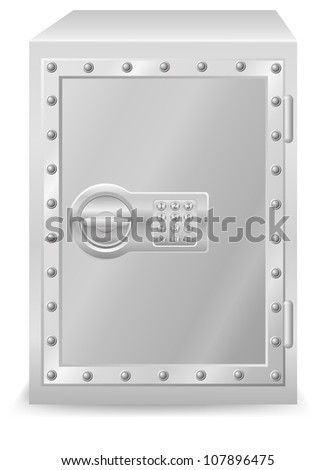 safe with electronic combination lock vector illustration isolated on white background