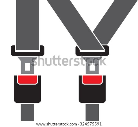 safety auto seat belt  - stock vector