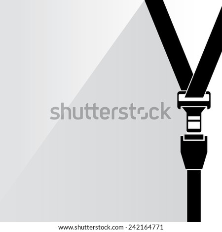 safety belt on white background, flat and shadow theme - stock vector