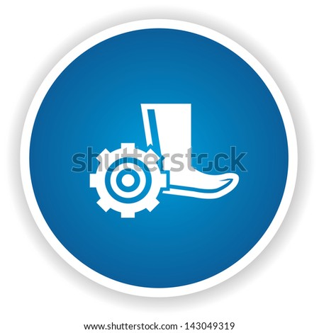 Safety boot symbol,vector - stock vector