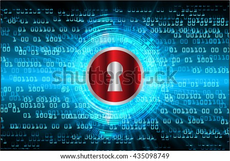 Safety concept: Closed Padlock on digital background, blue abstract light hi speed internet technology. Cyber security concept. Cyber background. Cyber data digital Technology. vector