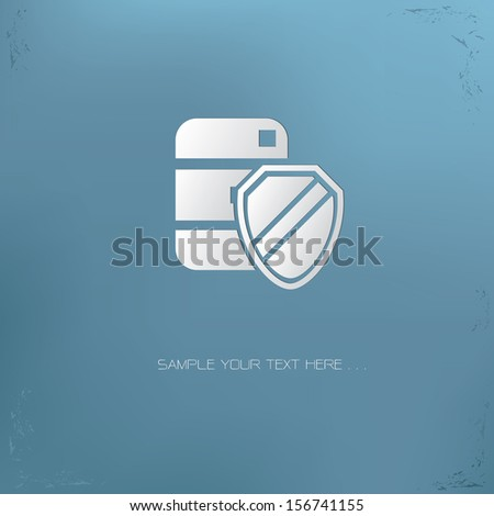 Safety data symbol,vector - stock vector