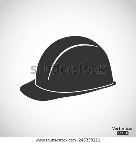 safety hard hat vector icon - stock vector