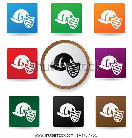 Safety hat sign,vector - stock vector