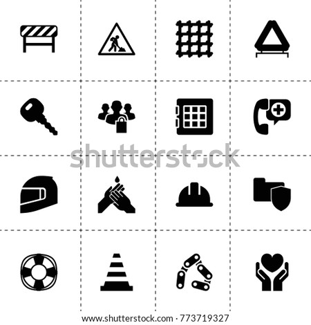 Safety Icons Vector Collection Filled Safety Stock Vector Royalty