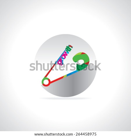 safety pin connect with growth concept  - stock vector