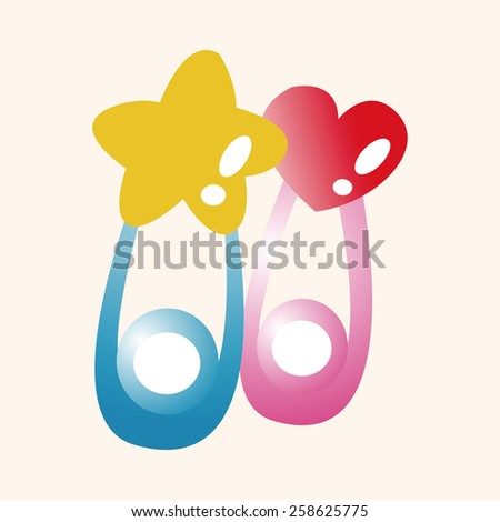 safety pin theme elements - stock vector