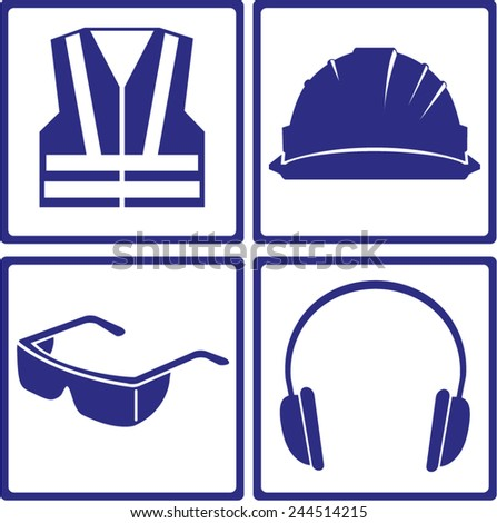 safety sign - stock vector