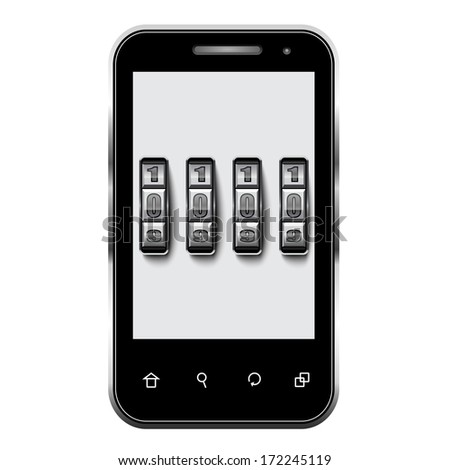Safety smartphone  - stock vector