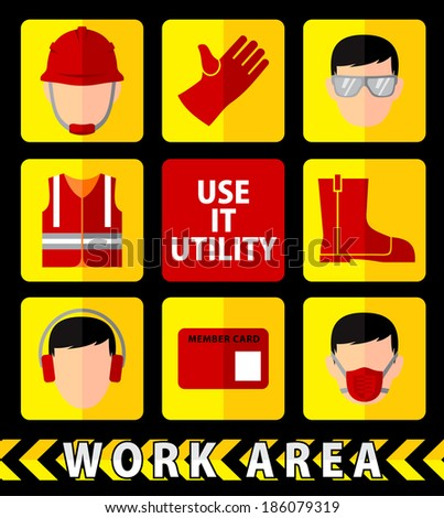 SAFETY WORK - stock vector