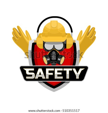safety work logo emblem stock vector 510351517 - shutterstock