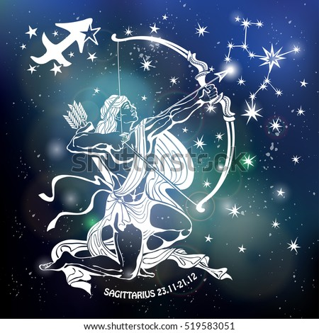 Sagittarius Zodiac Signaries Horoscope Constellationstarsabstract