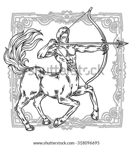 Sagittarius zodiac sign vector illustration - stock vector