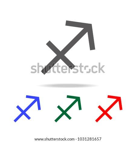 Sagittarius Zodiac Vector Sign Horoscope Symbol Stock Vector