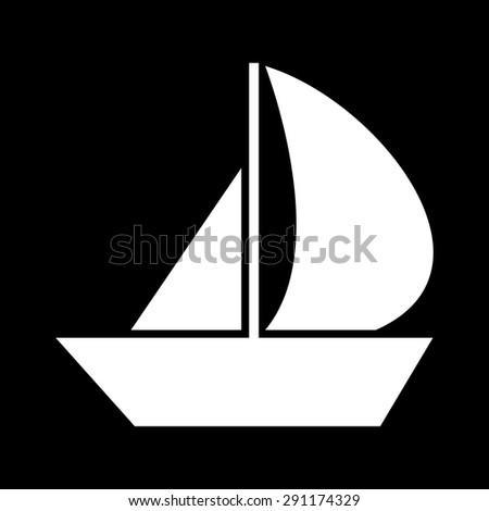 Sail Boat icon - stock vector