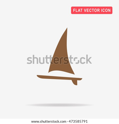 Sail boat icon. Vector concept illustration for design.