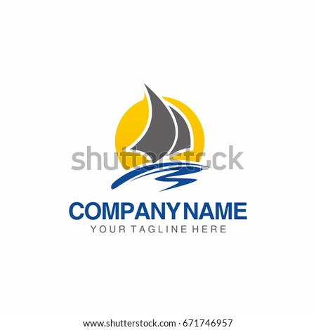 sail boat yacht template logo stock vector 671746957 shutterstock