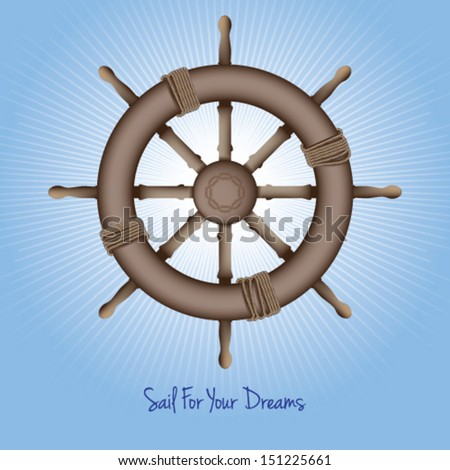 Sail For Your Dreams - stock vector