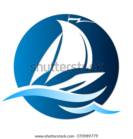 Sailboat silhouette of the vector