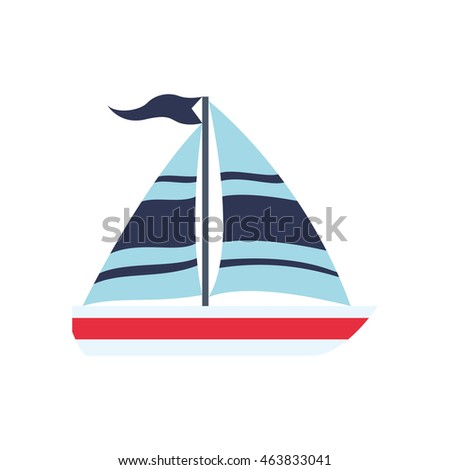 sailboat transportation delivery travel icon. Isolated and flat illustration. Vector graphic