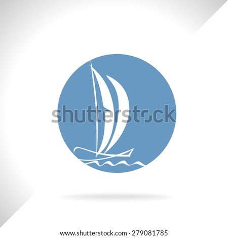 sailboat, vector
