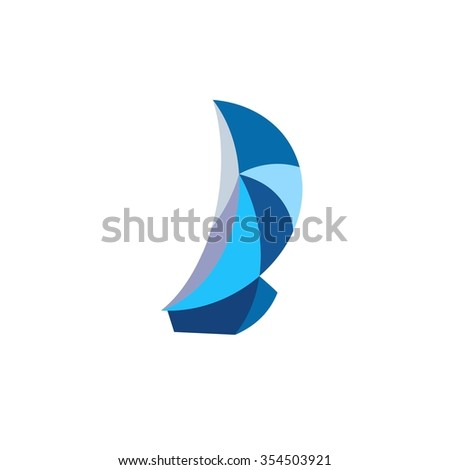 Sailboat - vector logo. Business icon for the company. Yacht club badges logos and labels for any use. Design element. Vector illustration.