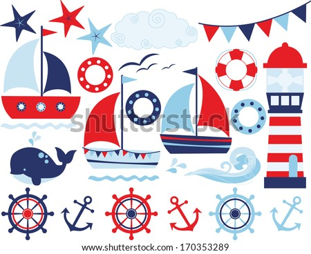 Sailing Away (Boy) - stock vector