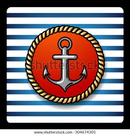 sailor vector Illustration anchor - stock vector