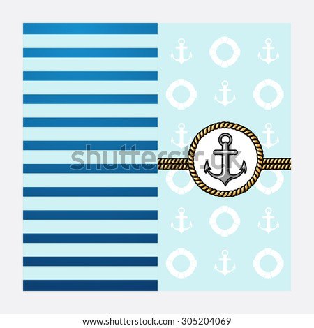 sailor vector Illustration poster - stock vector