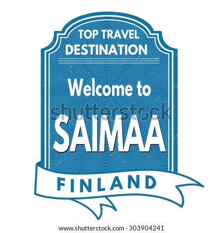 Saimaa grunge rubber stamp on white background, vector illustration
